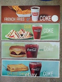 Vintage Coca Cola Cardboard & translucent signs 7 x 24