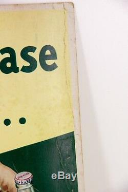 Vintage Coca Cola Coke Put A case In Your Car Cardboard Sign Display Paper