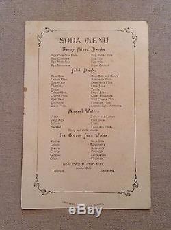 Vintage Coca-Cola Coke Soda Menu Card Advertising By DuPont