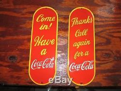 Vintage Coca Cola Door Push Porcelain Sign Coca Cola Porcelain Sign