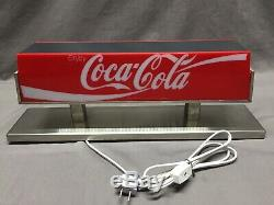 Vintage Coca-Cola Double Sided Coke Soda Fountain Machine Topper light Sign