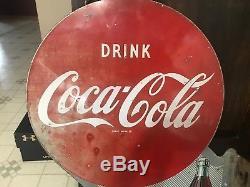 Vintage Coca Cola Flange Sign, 1950s Drink Coca Cola Sign Ice Cold Coca Cola 1950