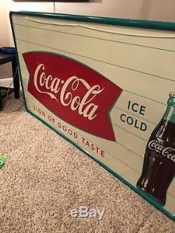 Vintage Coca Cola Large Sign Rare Find