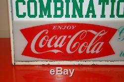 Vintage Coca Cola Lighted Diner Menu Board Rare