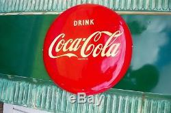 Vintage Coca-Cola Menu Board Sign Metal 61 3/4 x 24 With Both Orig. Brackets