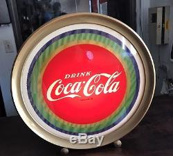 Vintage Coca-Cola Motion Light-Up Sign Price Bros. 50's