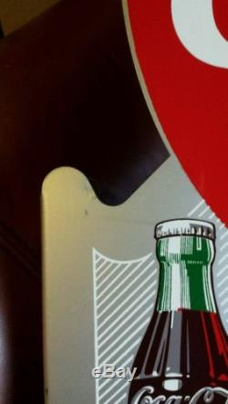 Vintage Coca Cola Near Mint 1953 Flange sign