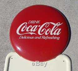 Vintage Coca Cola Pillar Metal Pilaster Coke Bottle Sign 1940's a-m 6-48 Exc