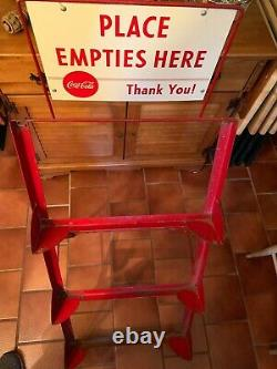 Vintage Coca Cola Place Empties Here Please Bottle Rack With Three Wooden Crates