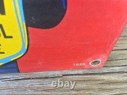 Vintage Coca Cola Porcelain Sign 12x8 Soda Cola Sign Gas Station Sign