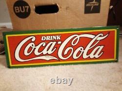 Vintage Coca Cola Porcelain Sign 1920'S (HOLY GRAIL)
