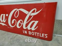 Vintage Coca-Cola Porcelain Sled Sleigh Sign With Brackets