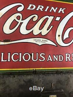 Vintage Coca-Cola Sign 4x8 From 1932 Great Condition! Make Offer! Rare
