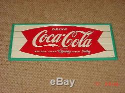 Vintage Coca Cola Soda Fountain Sign Drug store diner Excellent Condition Coke