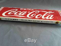 Vintage Coca-Cola Soda Porcelain Advertising Grocery Store Door Push Bar Sign