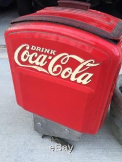 Vintage Coca Cola Tombstone Soda Dispenser Sign Pepsi Not Porcelain NO RESERVE
