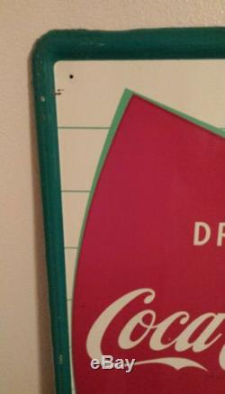Vintage Coca Cola rare Vertical Fishtail sign