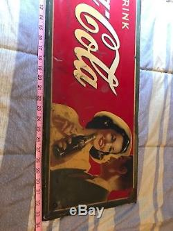 Vintage Coca Cola sign Young couple