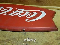 Vintage Coca-cola Fishtail Fish Tail Sign. AM-114