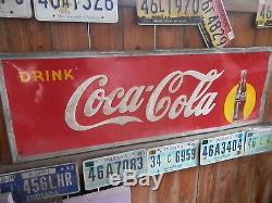 Vintage Coke Coca-cola Metal Sign