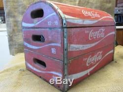 Vintage Coke Wooden Crate Chest Box Antique Coca-Cola Bottle RARE 9806