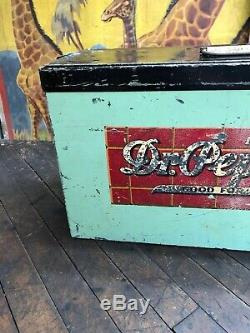 Vintage Dr Pepper Atlas Cooler Coca Cola 7up Pepsi Orange Crush Rare Sign Rare