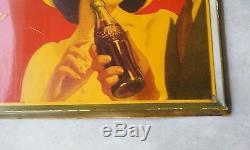 Vintage Drink Coca Cola 1942 Metal Sign Great Condition, Delicious and refr