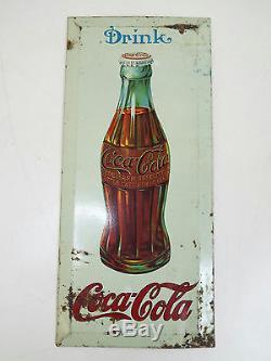 Vintage Drink Coca Cola Bottle Sign Elwood Myers Co