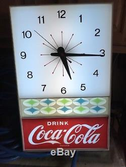 Vintage. Drink Coca Cola Coke Light Up Clock by Neon Products Mint New Old Stock