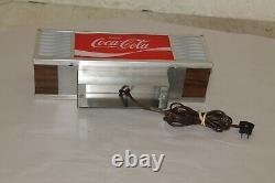Vintage Enjoy Coca-Cola Lighted Sign Soda Fountain Machine Topper