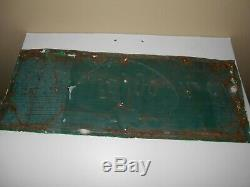 Vintage Enjoy Faygo Ice Cold Metal Advertising Sign 30 X 11 1/2