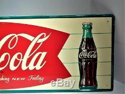 Vintage Fountain Coke Cola Sign