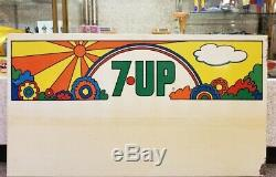 Vintage Huge Peter Max Style 7up Sign Great Color 25 × 45.5 coke Advertising
