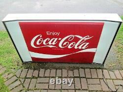 Vintage Light up Coca Cola Sign Restaurant or Store Big Coke Sign 5 feet by 3 ft