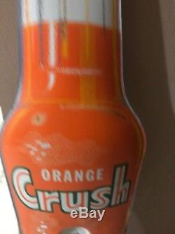 Vintage Orange Crush Sign Thermometer Good Working 1940-50s Old Original