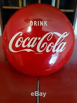 Vintage Original 12 Inch Coca-Cola Soda Button Sign