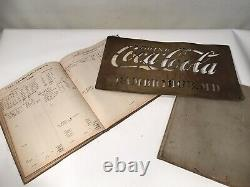 Vintage Original 1920s Coca Cola Crate Stencil & Ledgers Cambridge Maryland