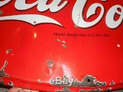 Vintage Original 1941 Porcelain COCA COLA Coke SODA POP Advertising SIGN