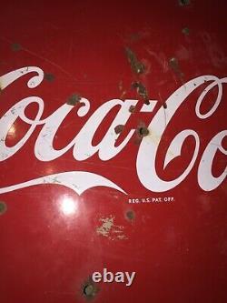 Vintage Original 1950s 36 Porcelain Coca Cola Porcelain Button Round Sign