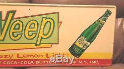 Vintage Original 1960's Coca Cola NY Veep Soda Pop Tin Metal Sign