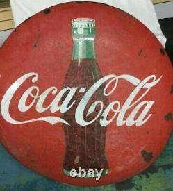 Vintage Original 48 Coca-cola Button Porcelain Sign
