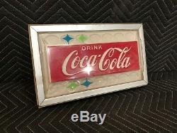 Vintage Original Cavalier Coca Cola Vintage Vending Machine Light Up Sign Front
