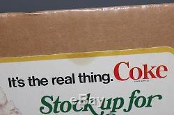 Vintage Original Coca-Cola Cardboard Stand-Up Sign Holidays Santa Coke Fresca