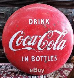 Vintage Original Coca Cola Sign Large 36 Button Sign In Metal Not Porcelain