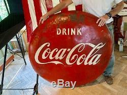 Vintage Original Drink COCA COLA Coke 48 Button Advertising Sign