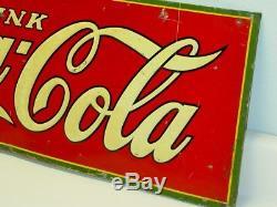 Vintage Original Tin Drink Coca-Cola Sign, Dasco 1931
