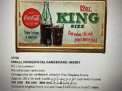 Vintage, Original, Uncommon 1958 Coca Cola Cardboard, Big King Size Sign
