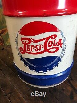 Vintage Pepsi 10 Gallon Syrup Can Drum Coca Cola 7up Dr Pepper Orange Crush Sign