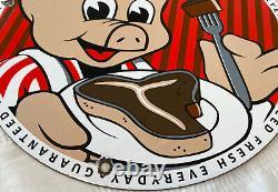 Vintage Piggly Wiggly Grocery Porcelain Sign Gas Station Pepsi Coke Mcdonalds