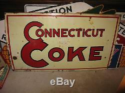 Vintage Porcelain Connecticut Coke Coal Sign